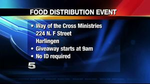 Way of Cross Ministries holds food distribution... Way of Cross Ministries holds food distribution event in Harlingen