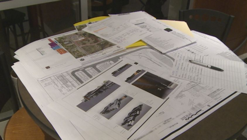 Blueprints for CenterPointe's proposed mental health facility.