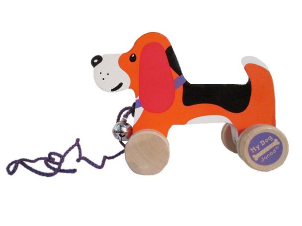 "W.A.T.C.H. says despite the industry's standard requiring strings on playpen and crib toys to be less than 12 inches in length, manufacturers are still permitted to market ""pull toys"" such as ""Pull Along Dog"" with a cord measuring approximately 19 inches. No warnings are provided."