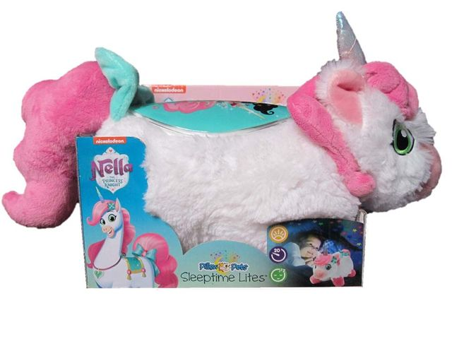 "W.A.T.C.H. says these soft, plush ""Pillow Pets Sleeptime Lites"" project colorful night-sky images to make ""night-time fun."" The package cautions that the product is ""not intended"" for use in a crib. Additionally, the manufacturer identifies a ""battery acid leakage"" hazard."