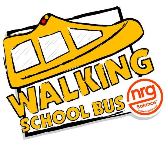 mascot named for walking school bus rh komu com Walking Feet Clip Art Classroom People Walking Clip Art
