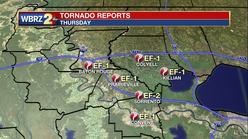 Several tornadoes confirmed across capital area after severe weather