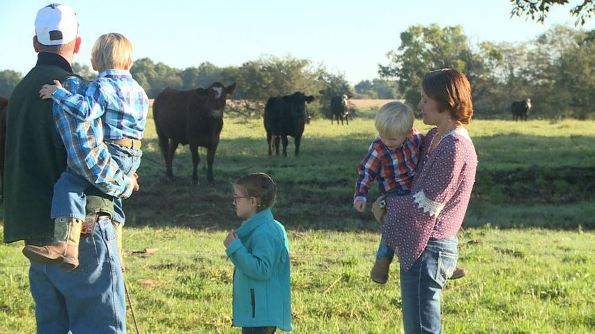 The Stowers, Greg, Garon, Breelle, Gavin and Kara (left to right), are preparing to host the Luke Bryan Farm Tour at their farm in Centralia on Friday.