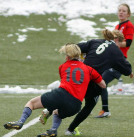 CRFC Black Sheep Women's Rugby Fly-Half Christina Holzhauser makes a play.