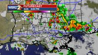 Storms around tonight, watching for development in the Gulf