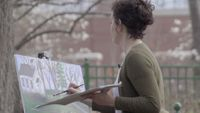 Story image: Columbia artist brings color to gray skies
