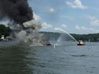 Story image: Boat catches fire at Lake of the Ozarks, 1 person injured