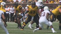 Story image: Trystan Castillo Anchors Offensive Line in Mizzou's Home Opener