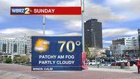 Warmer Conditions Sunday