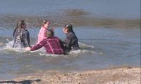 Story image: Polar Plunge participants dive in for a good cause