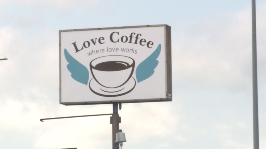 Love Coffee had a line out the door on Saturday after announcing their financial struggles.