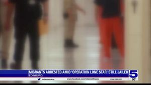 Migrants arrested as part of Operation Lone... Migrants arrested as part of Operation Lone Star transferred to Edinburg prison