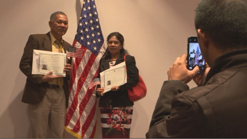 Naturalization ceremony welcomes 80 new U S  citizens