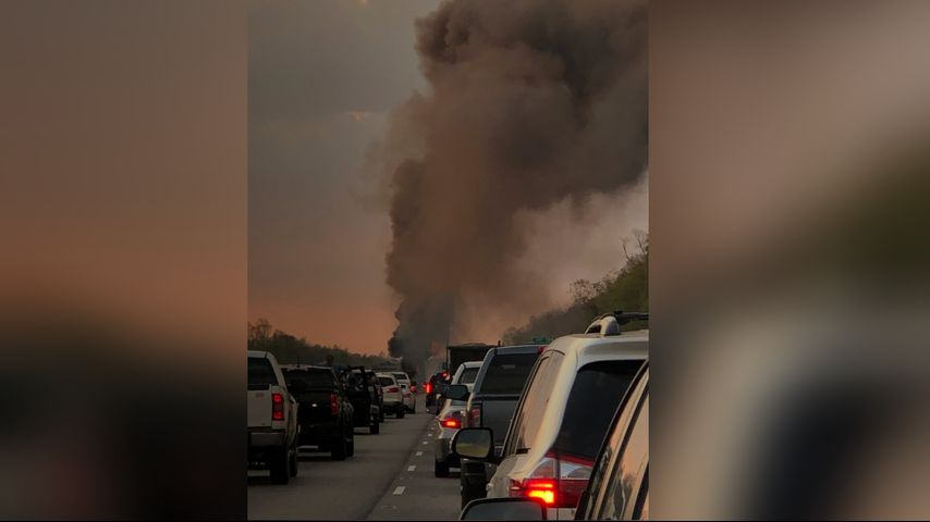 Fiery crash shuts down I-10 in St  James Parish