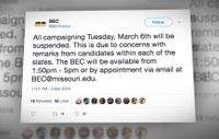 Story image: Offensive tweets cast shadow over MU student body president election