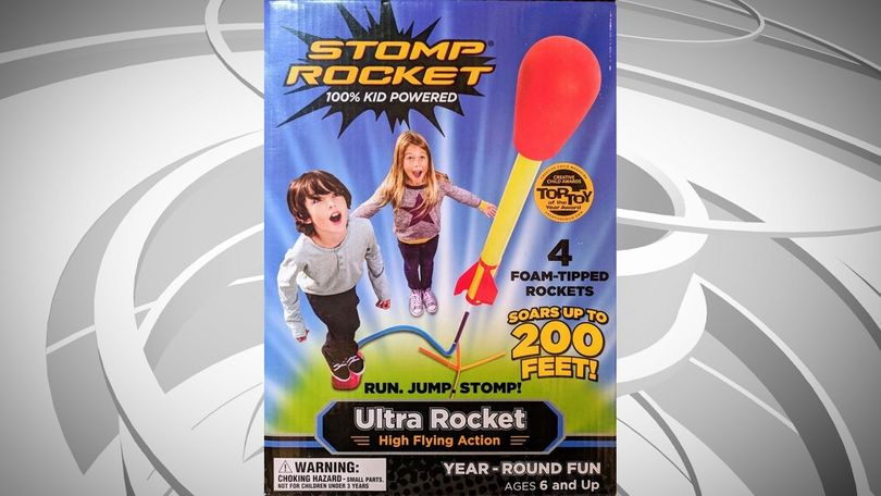 "W.A.T.C.H. says 6-year-old children are advised to ""Run. Jump. Stomp!"" in order to launch a rocket ""up to 200 FEET!"" Many warnings appear on the package and package inset, in an effort to ""prevent serious eye or face injuries.…"""