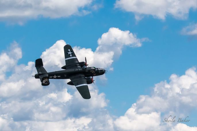 Another view of the 1944 WWII B-25 Mitchell Bomber known as