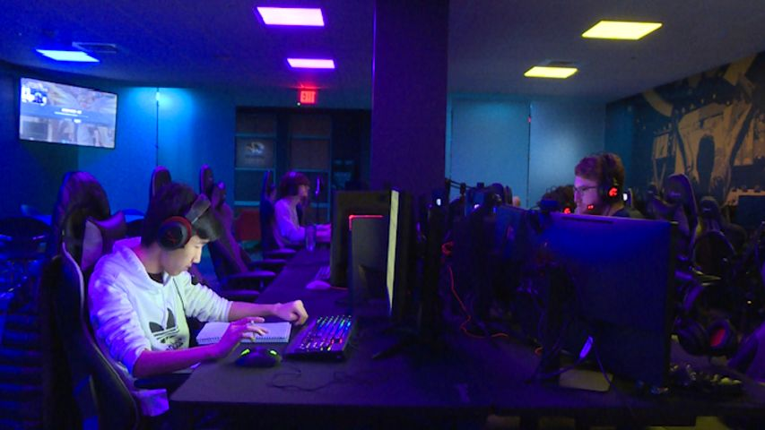 The Mizzou Esports team at practice. Currently the team plays three games: League of Legends, Overwatch and Rocket League.