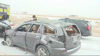 Story image: Rollover crash on Highway 63, one injured