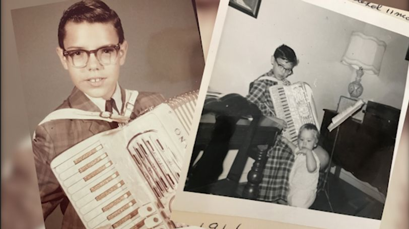 Denson started playing the accordion more than 50 years ago.