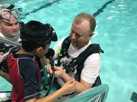 Story image: Kids with disabilities experience scuba diving