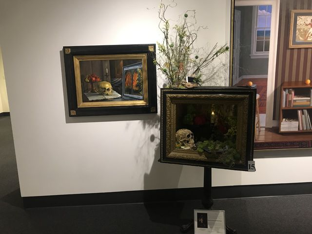 The picture on the right is the Museum's, the artwork on the right is the recreation of the picture by Busch's Florist and Greenhouse.