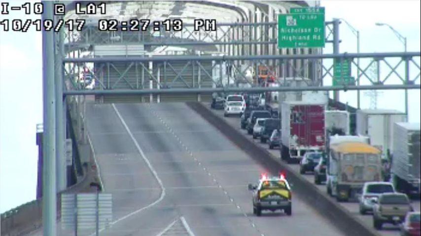 Large crash scene blocks most of I-10 MS River bridge