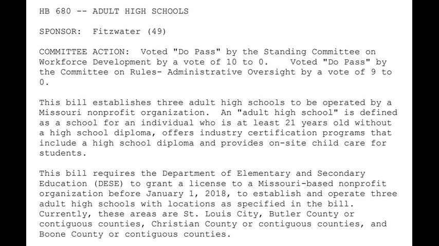 New questions about Missouri\'s adult high school plan
