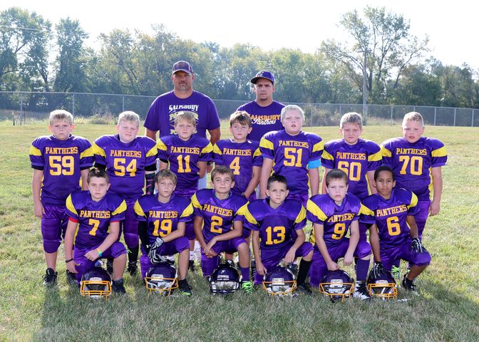 3rd and 4th grade Salisbury Youth Football Team.
