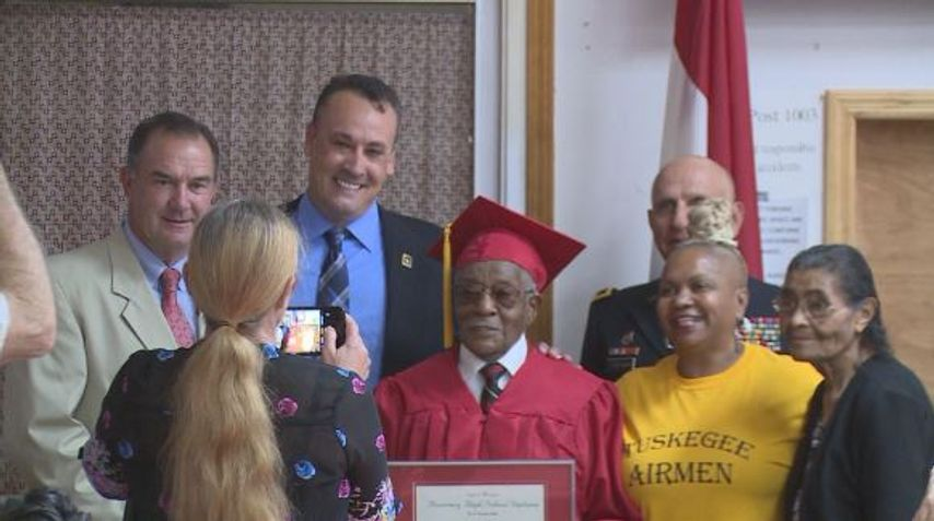 Tipton man receives high school diploma 77 years after joining Tuskegee Airmen