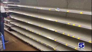 Efforts to restock store shelves underway Efforts to restock store shelves underway